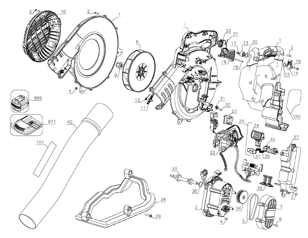 Dewalt Dcbl790m1 Type 1 Parts List