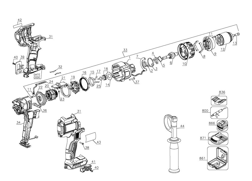 Dewalt Drill Diagram | Wiring Diagram on