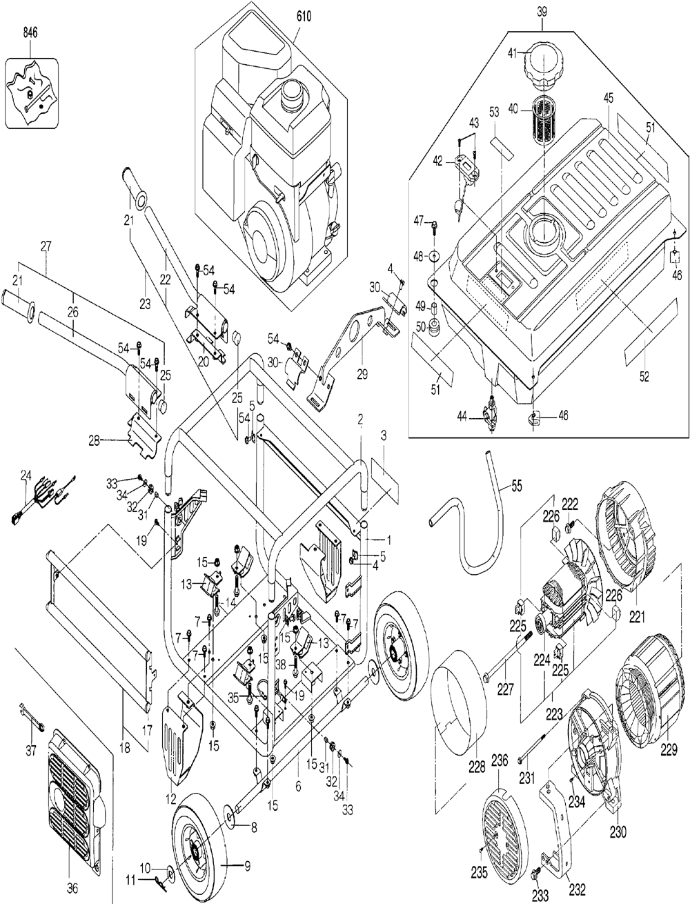 dewalt dg6000 parts list