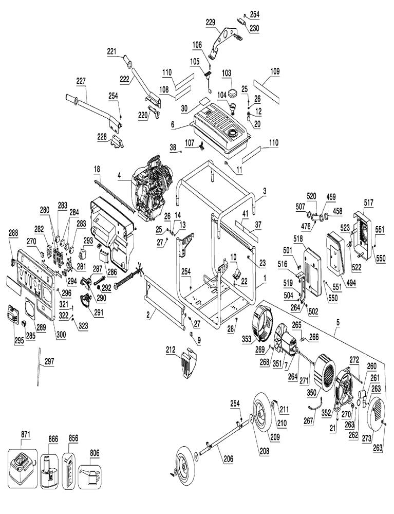 dewalt dg6300b parts list
