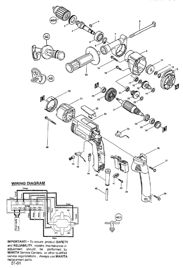 makita model 6404 wiring diagram
