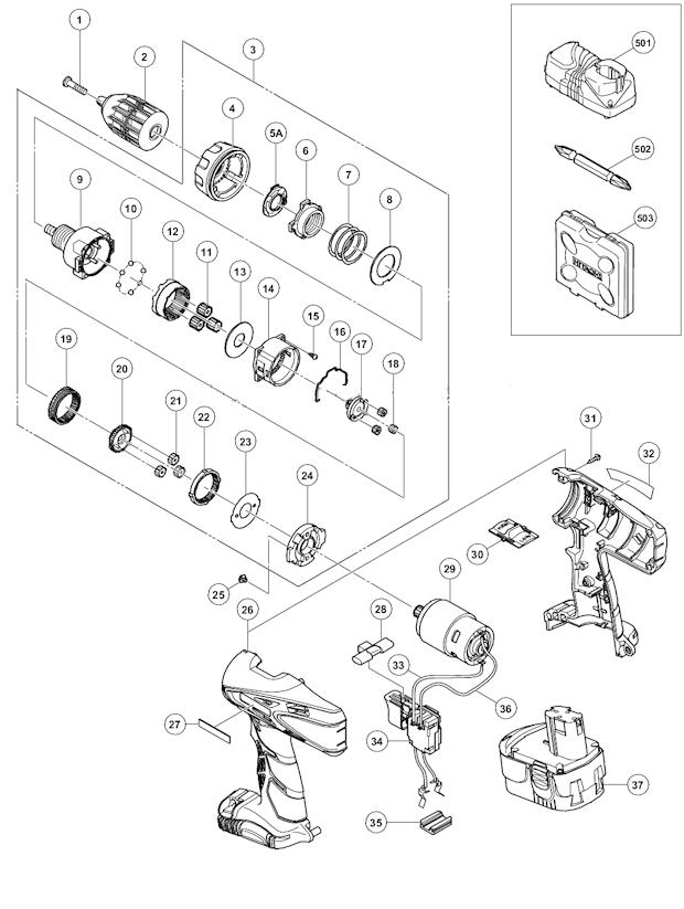 Hitachi Ds18dvc Parts List