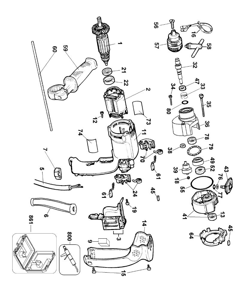 dewalt dw511 type 1 parts list dewalt dw511 type 1 IEC 320 C13 Receptacle