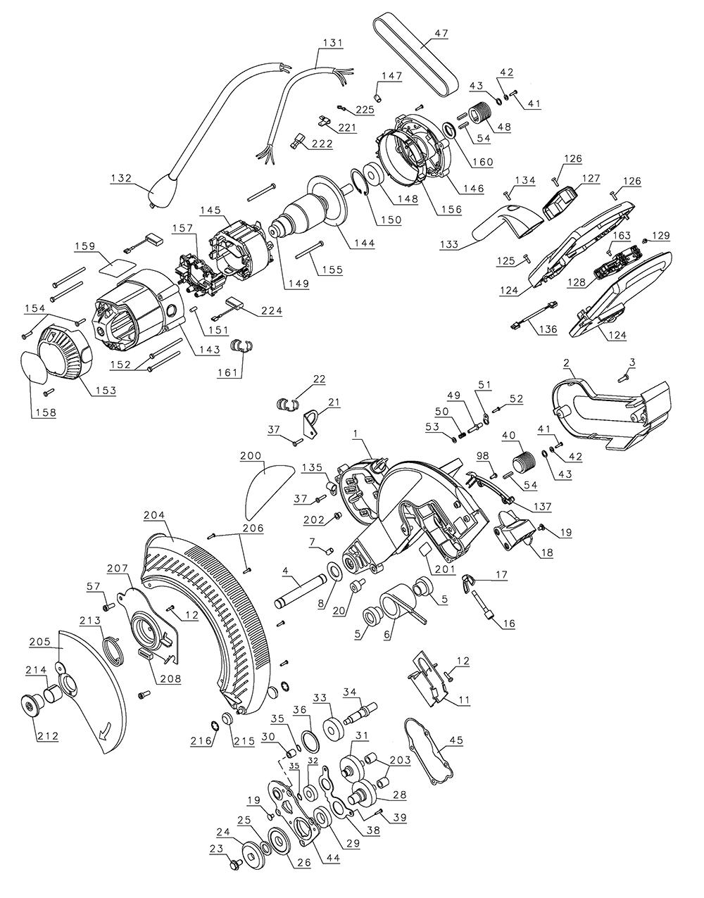 Dewalt DW718-B2-Type-1 Parts List | Dewalt DW718-B2-Type-1 Repair