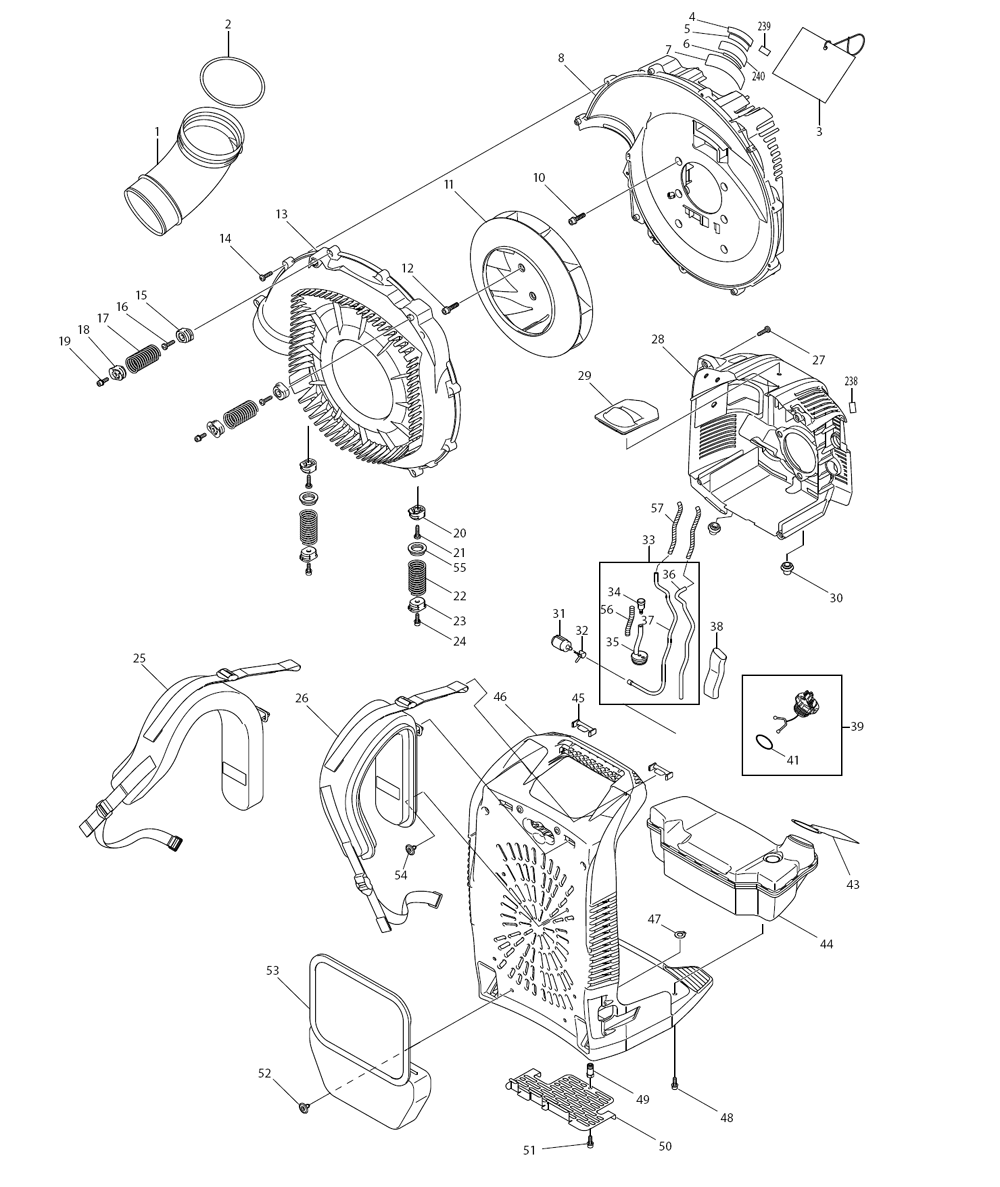 Makita EB7650WH Parts Schematic