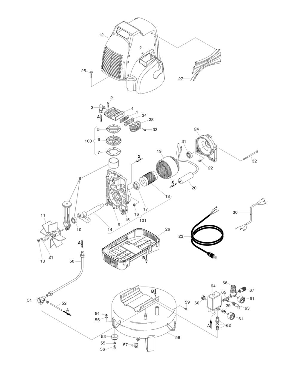 Hitachi 881409 Replacement Part for Cover Ec6C Ec10Sbs Ec79