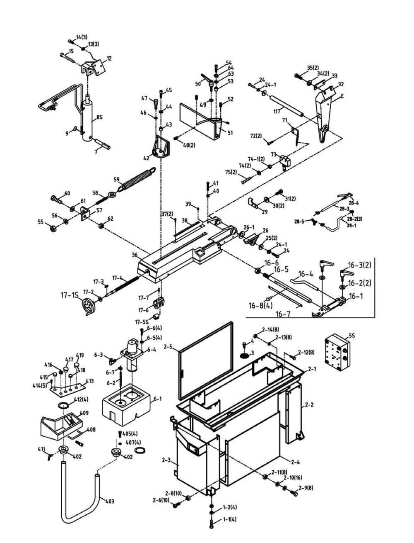 Jet Ehb 8vsm 891020 Parts List Repair Band Saw Wiring Diagram Schematic