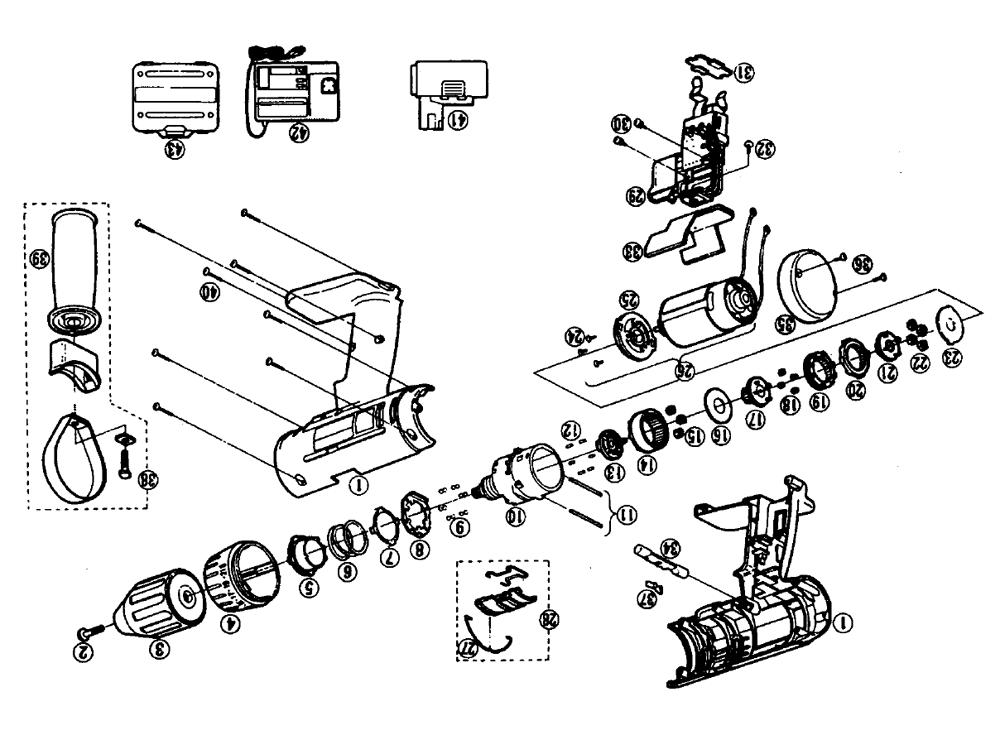 panasonic ey6230 parts list
