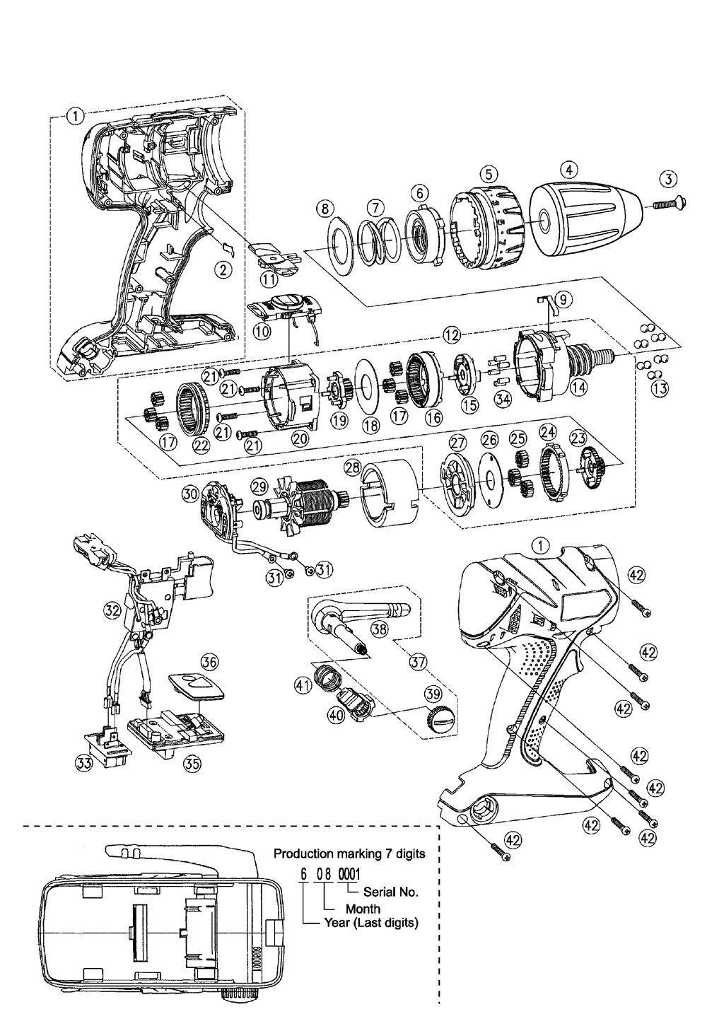 Panasonic Ey7440 Parts List