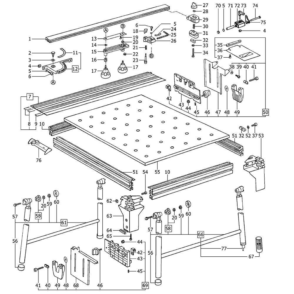 Festool 490915 Parts List Festool 490915 Repair Parts