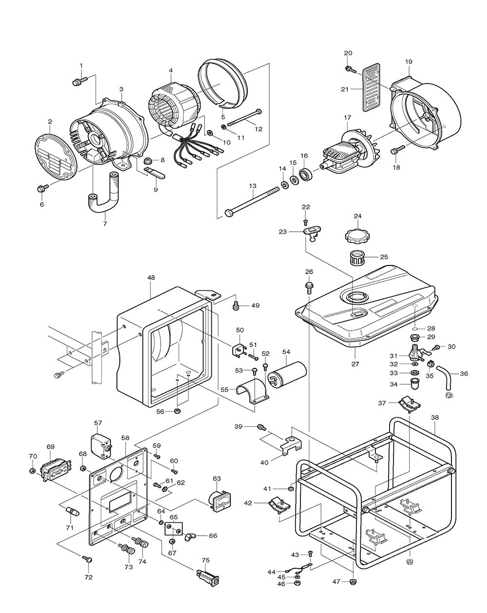makita g2410r parts list