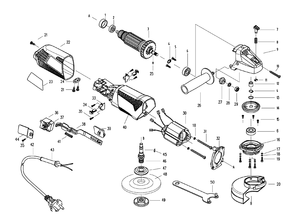 Black And Decker G720 B3 Type 3 Parts List