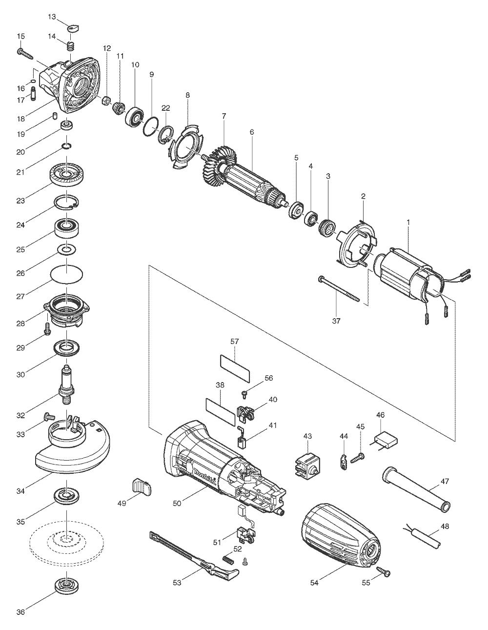 makita ga4030 parts list