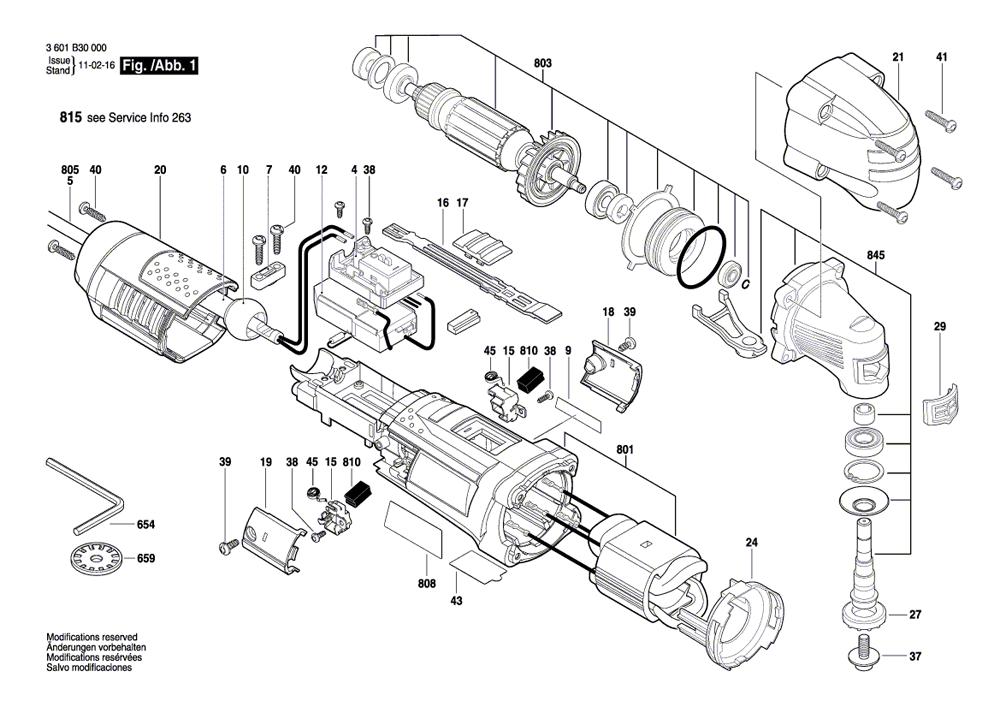 bosch gop250ce parts list
