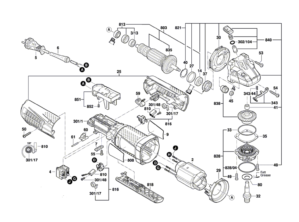 Bosch Hammer Drill Parts Replacement
