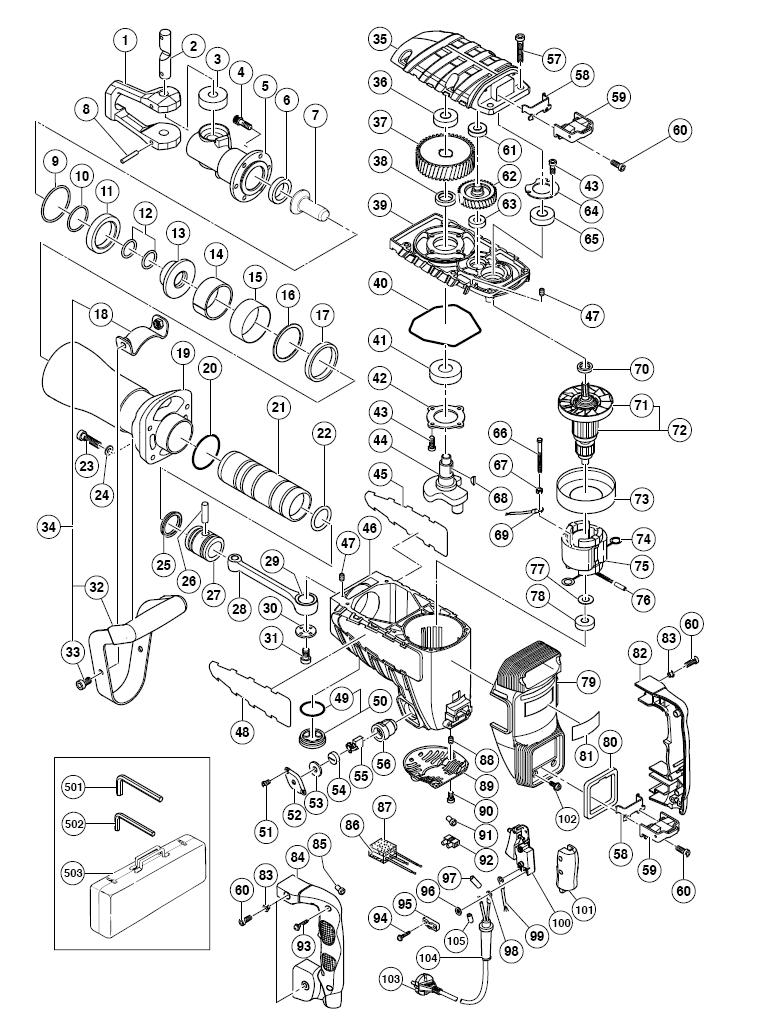 Hitachi H65sd2 Parts List