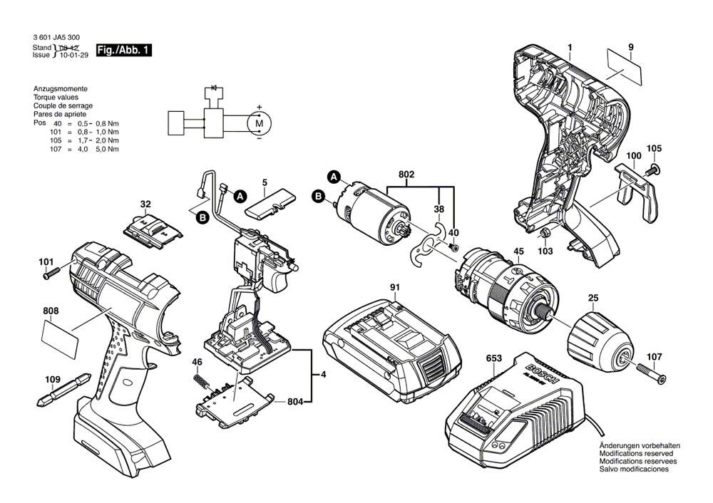 Bosch Hdb180 Parts List