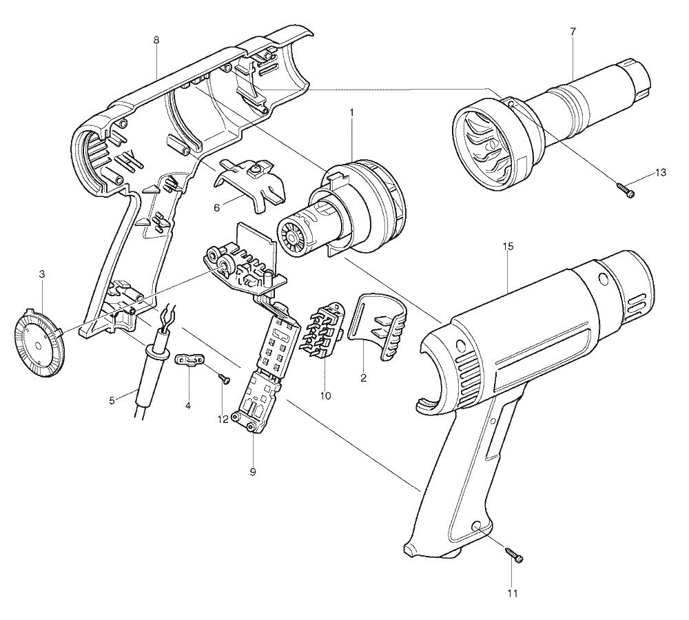 makita hg1100 parts list