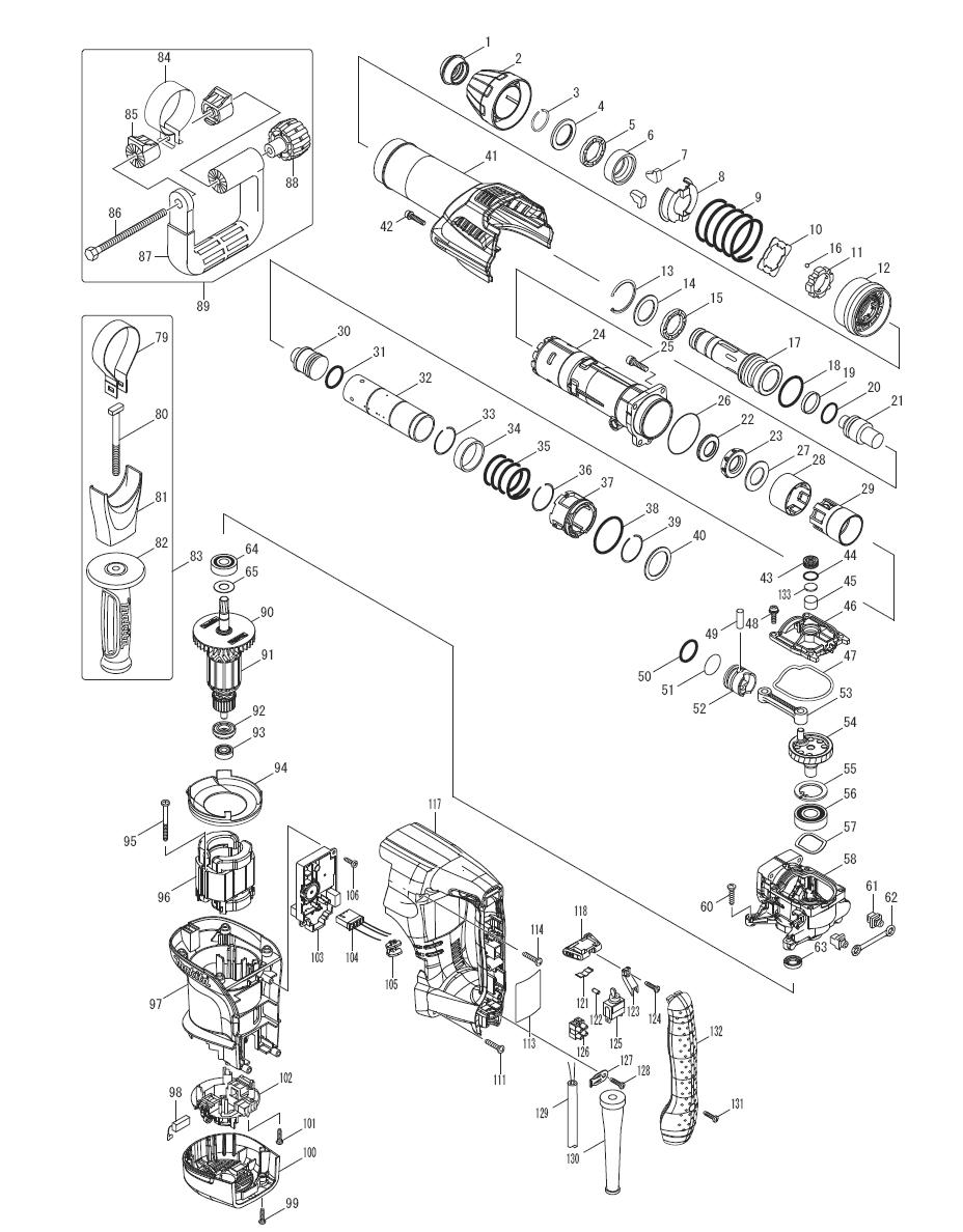 Makita HM0870C Parts List | Makita HM0870C Repair Parts | OEM Parts on