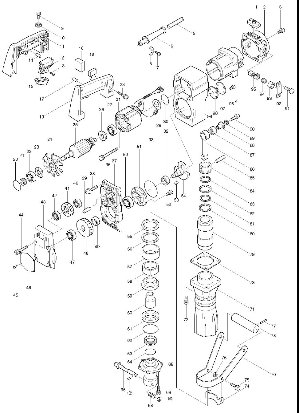 Makita Hm Wiring Diagram on makita hammer grease, makita hm1500b, makita jack hammer, makita demo hammer parts,