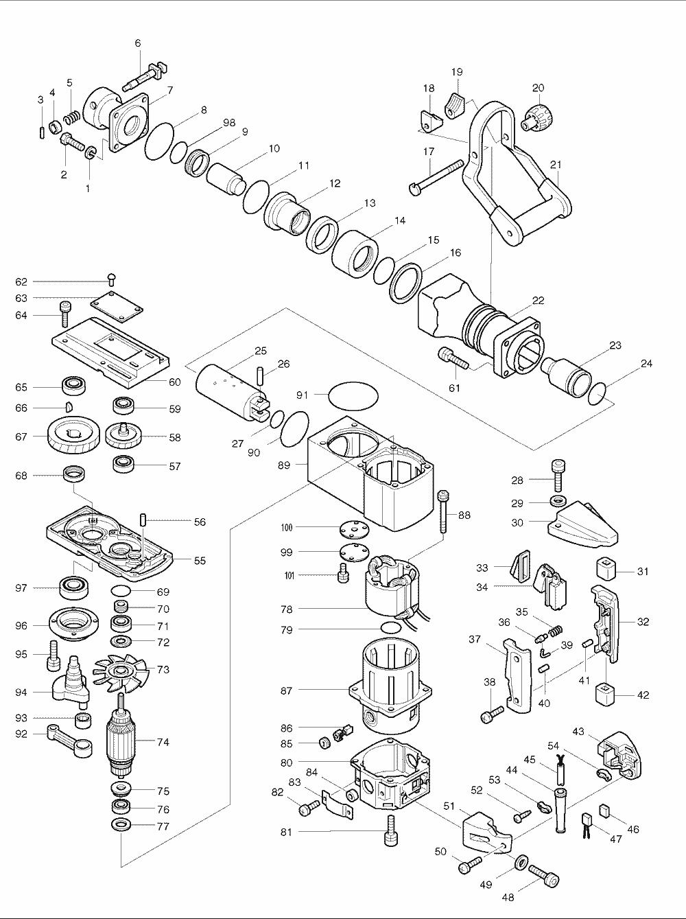 Makita Hm B Wiring Diagram on