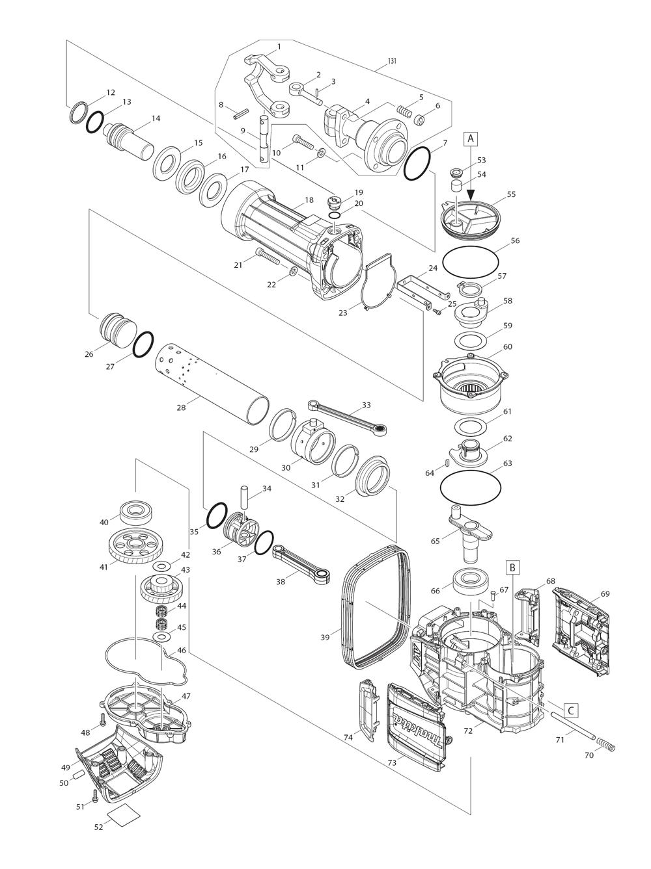 Makita Hm1812 Parts List