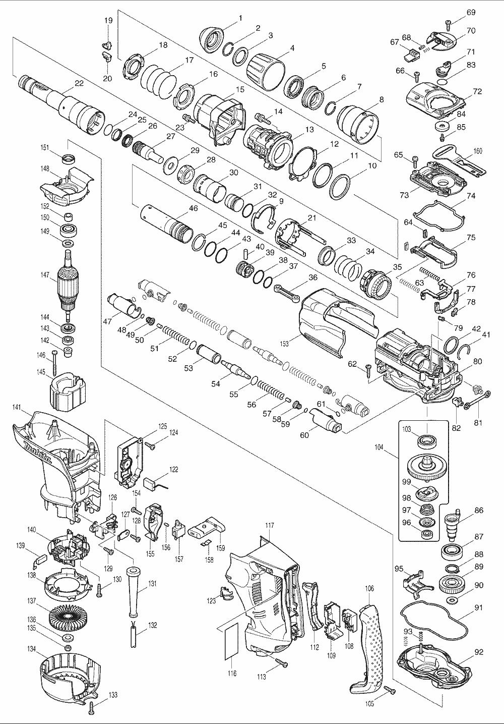Makita HR4010C Parts List | Makita HR4010C Repair Parts | OEM Parts