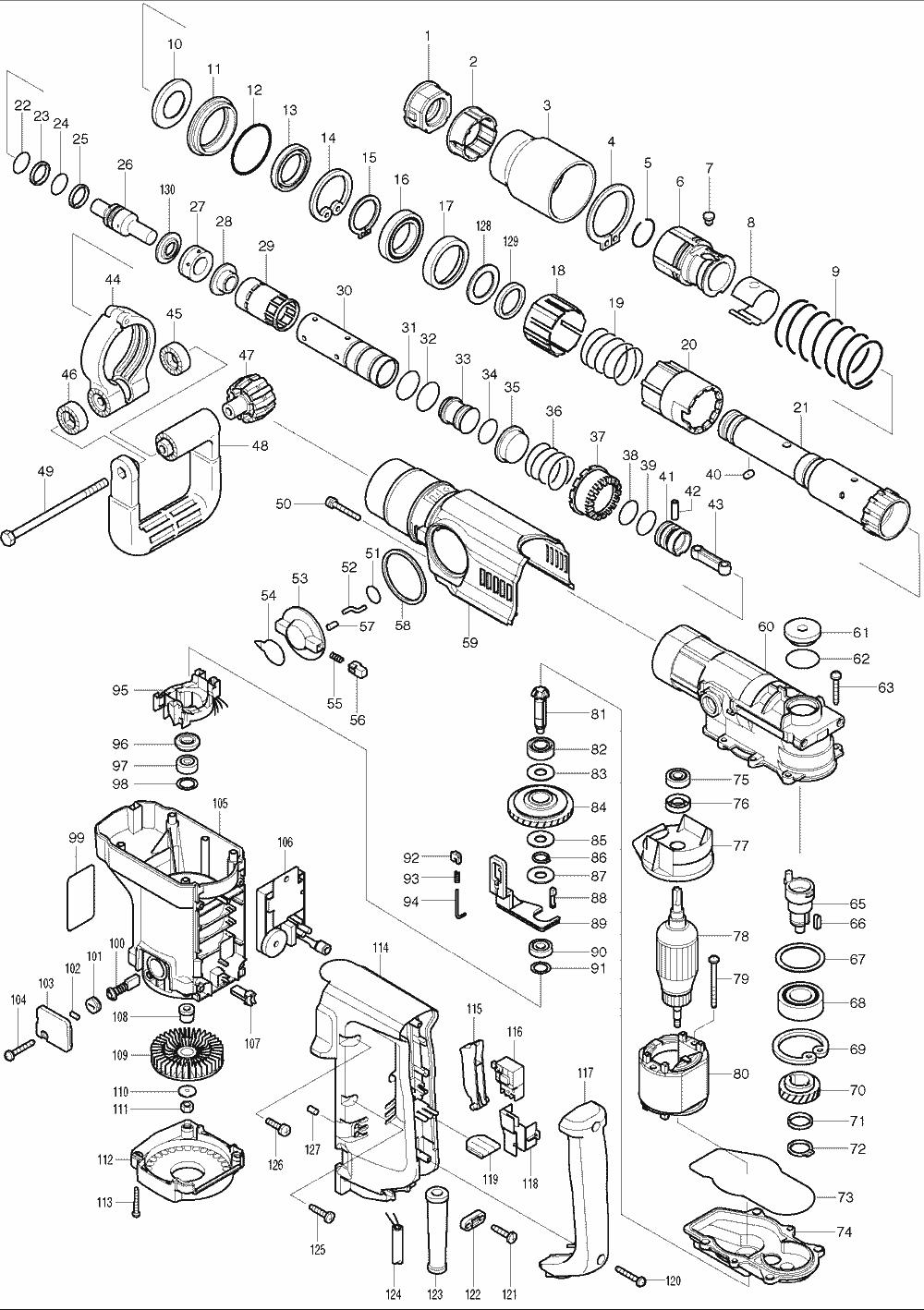 Makita HR4040C Parts List | Makita HR4040C Repair Parts | OEM Parts on