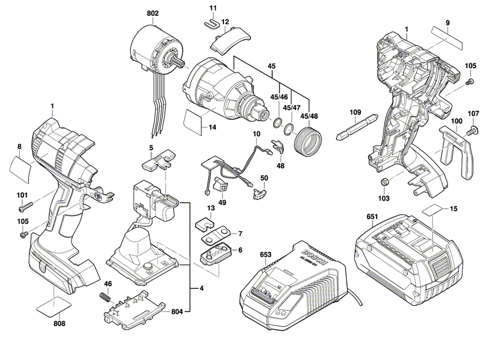 Bosch IDH182-02-(3601JB9110) Parts List   Bosch IDH182-02
