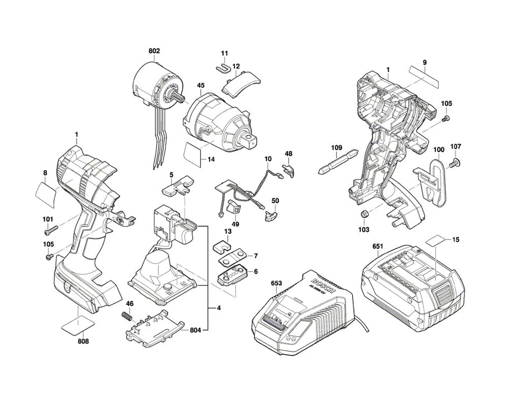 Bosch Iwbh182 3601jb9510 Parts List
