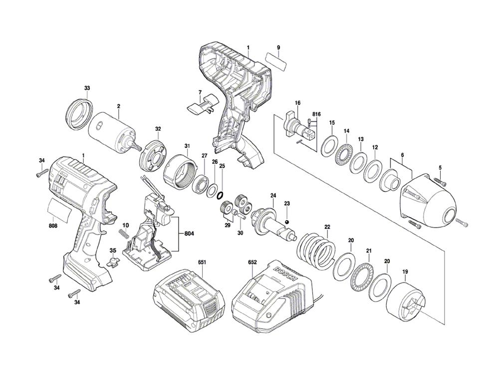Bosch Iwht180 3601jb1311 Parts List