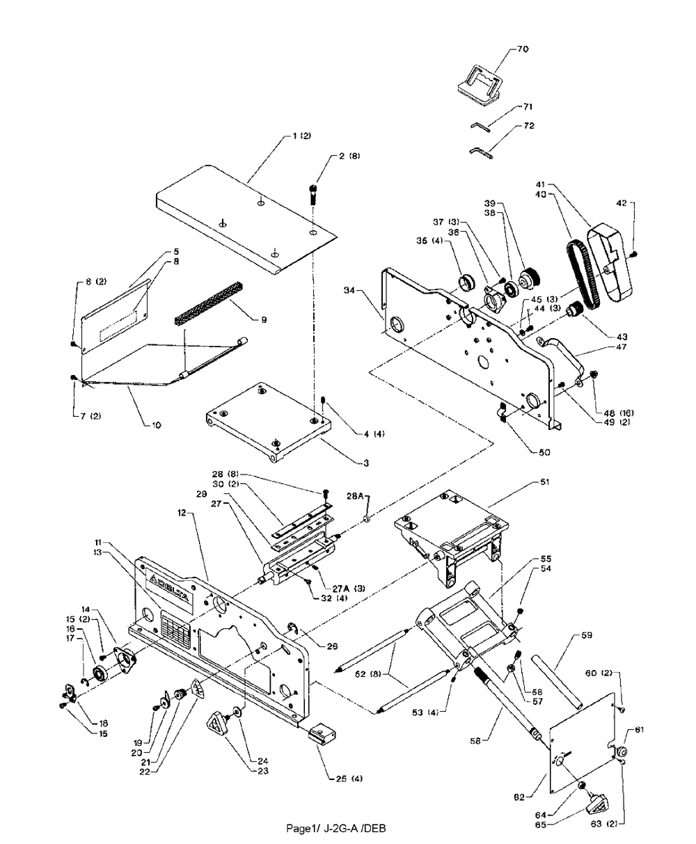 Delta Jointer Wiring Diagram Electrical Diagrams Wye Motor Jt160 Type 1 Parts List Repair Control
