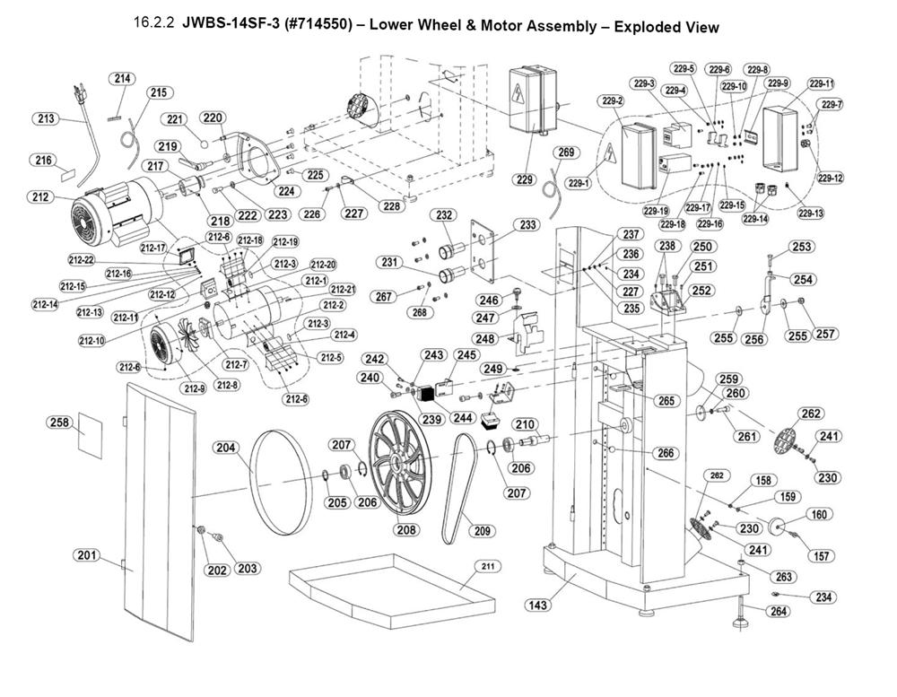 Jet Jwbs 14sf 3 714550 Parts List Jet Jwbs 14sf 3