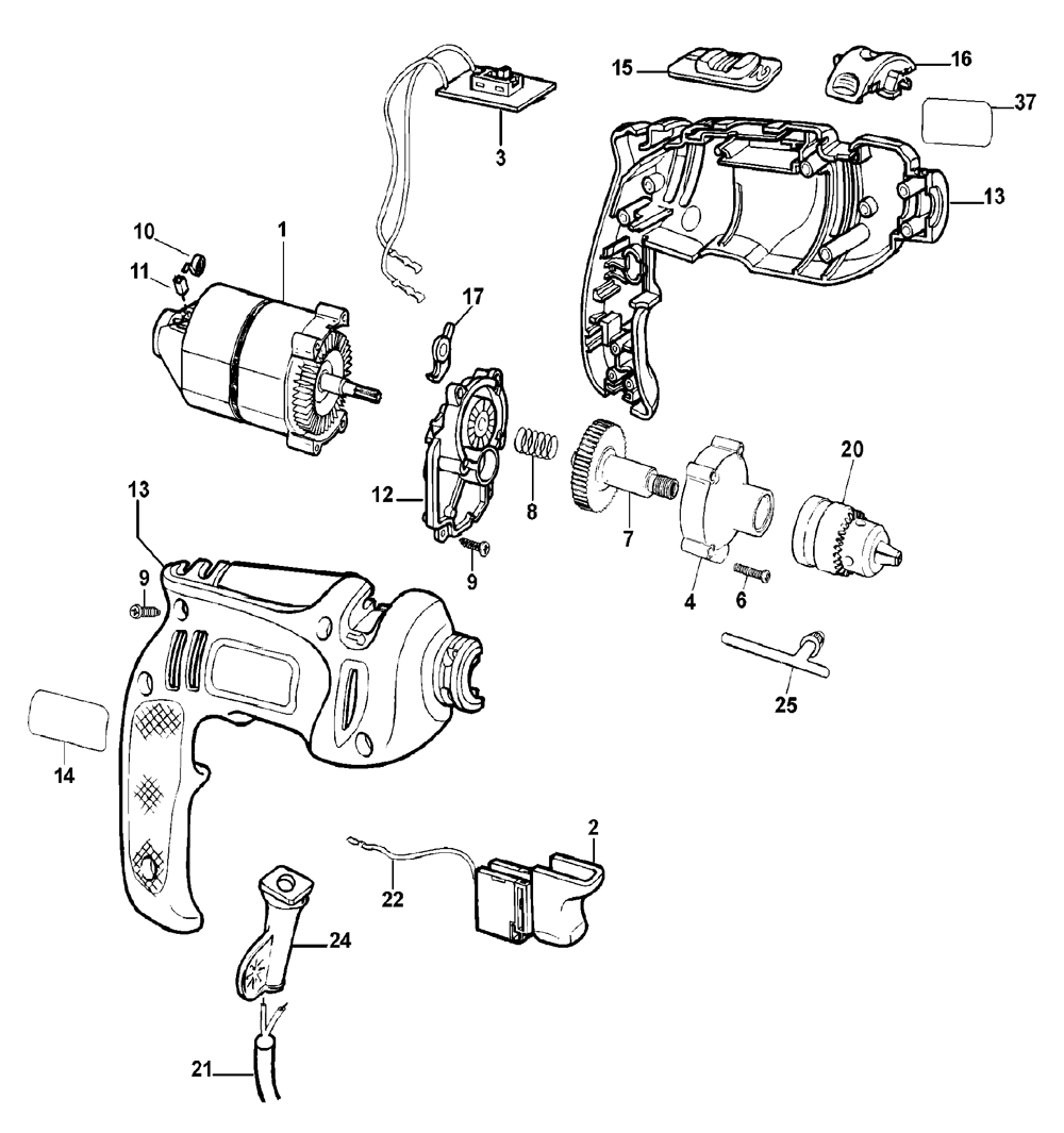 black and decker parts - HD 1000×1046