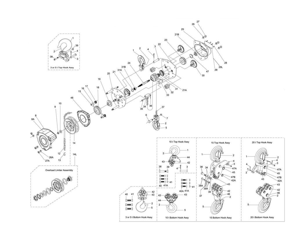 L-100-300WO-15-(207115)-Jet-PB  On Jet Hoist Pendant Wiring Diagram on