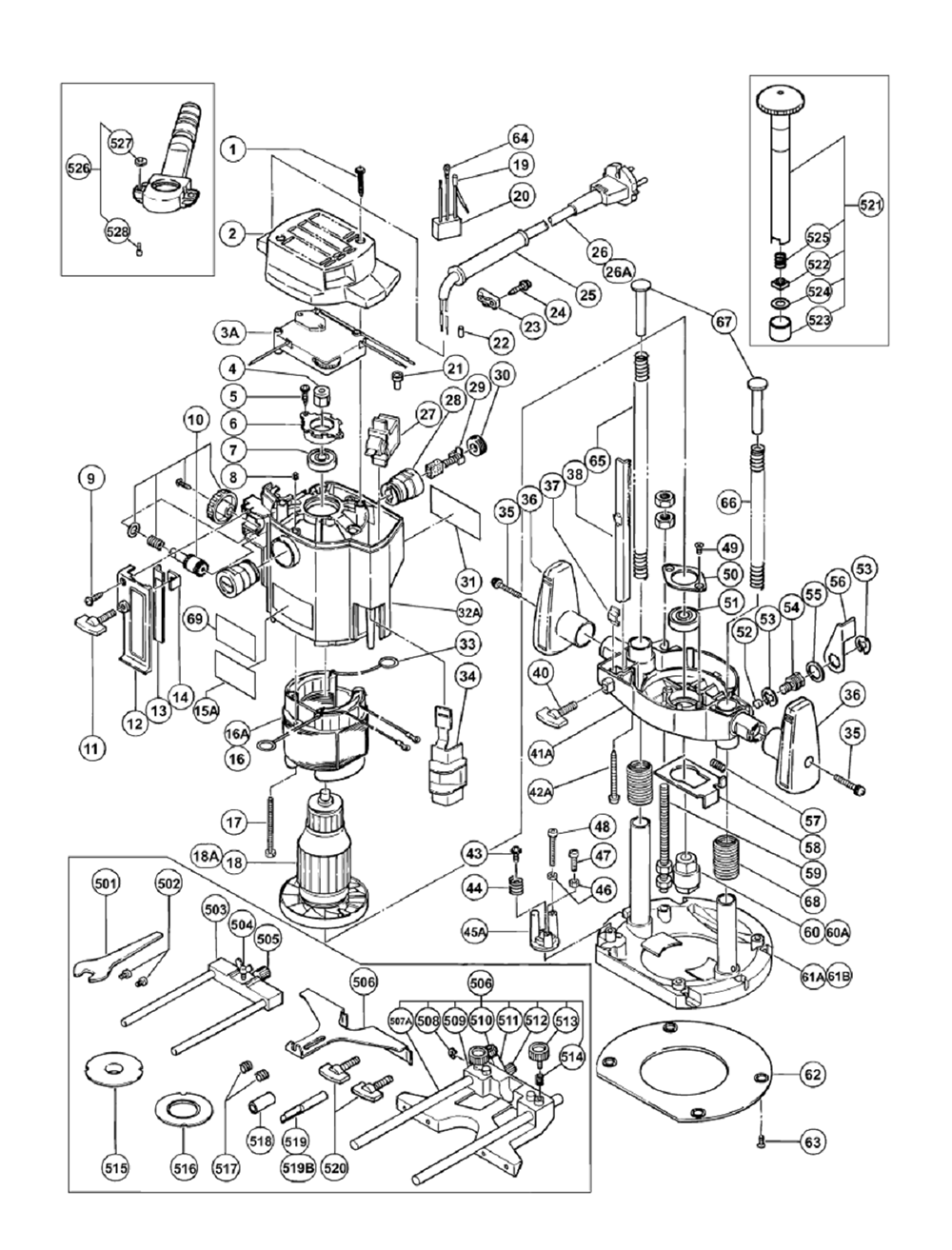 Hitachi M12v Parts List