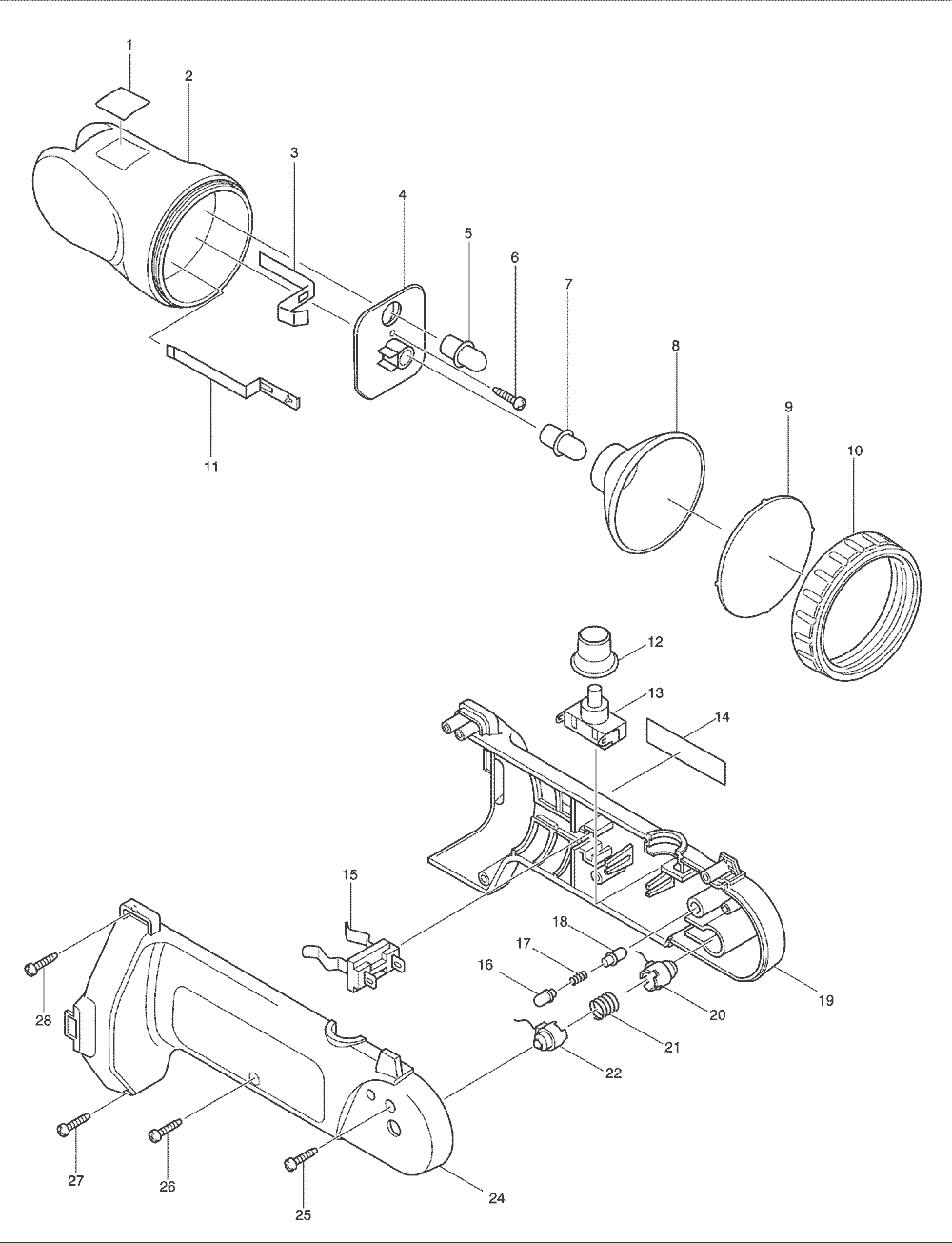 makita ml120 parts list