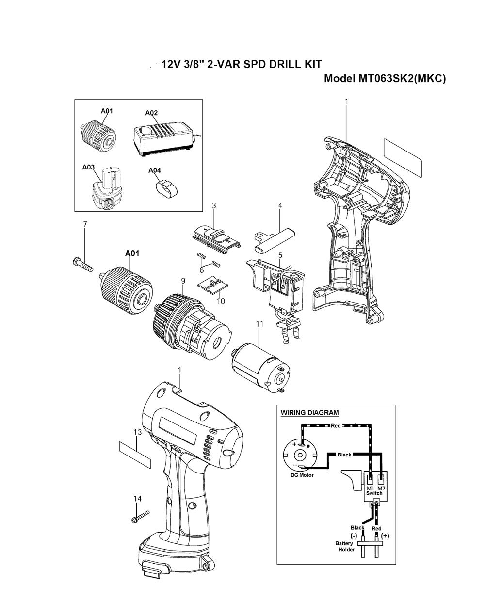 Makita Switch Wiring Diagram on