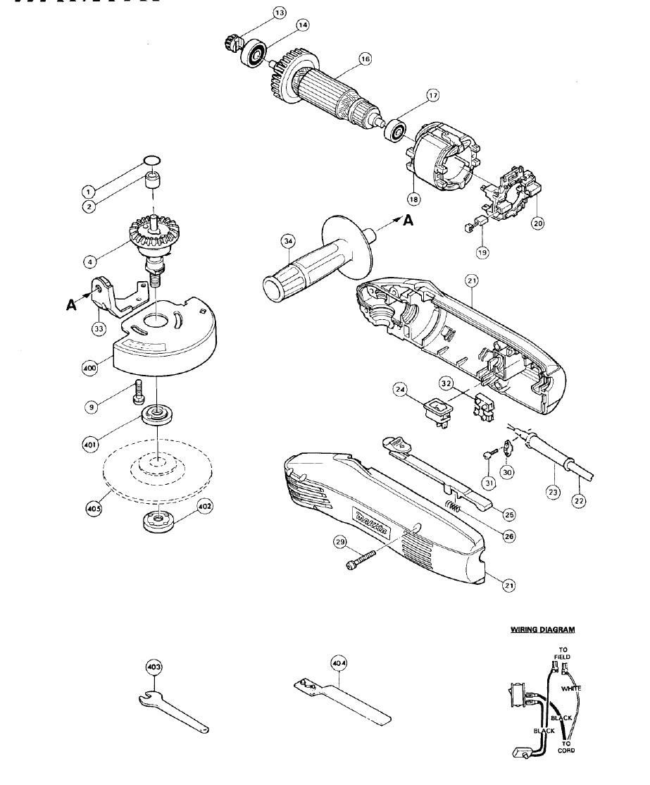 makita n900 parts list
