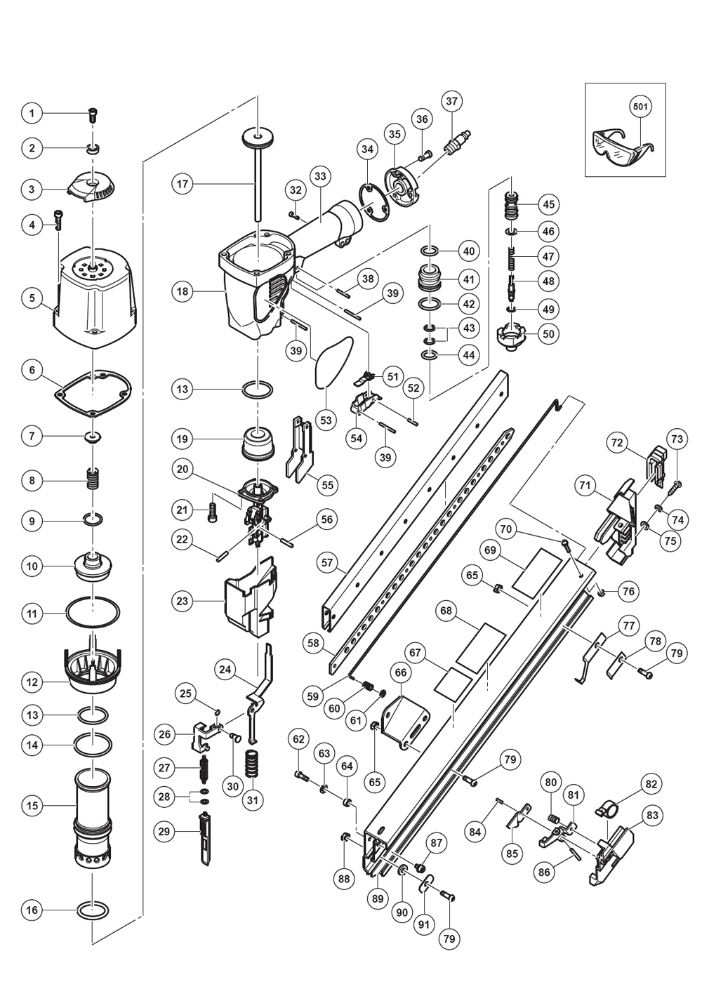 Hitachi Nr65ak2 Parts List