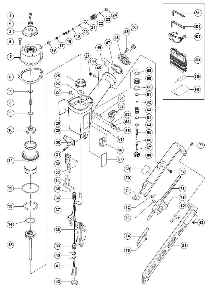 Hitachi Nt65ma2 Parts List