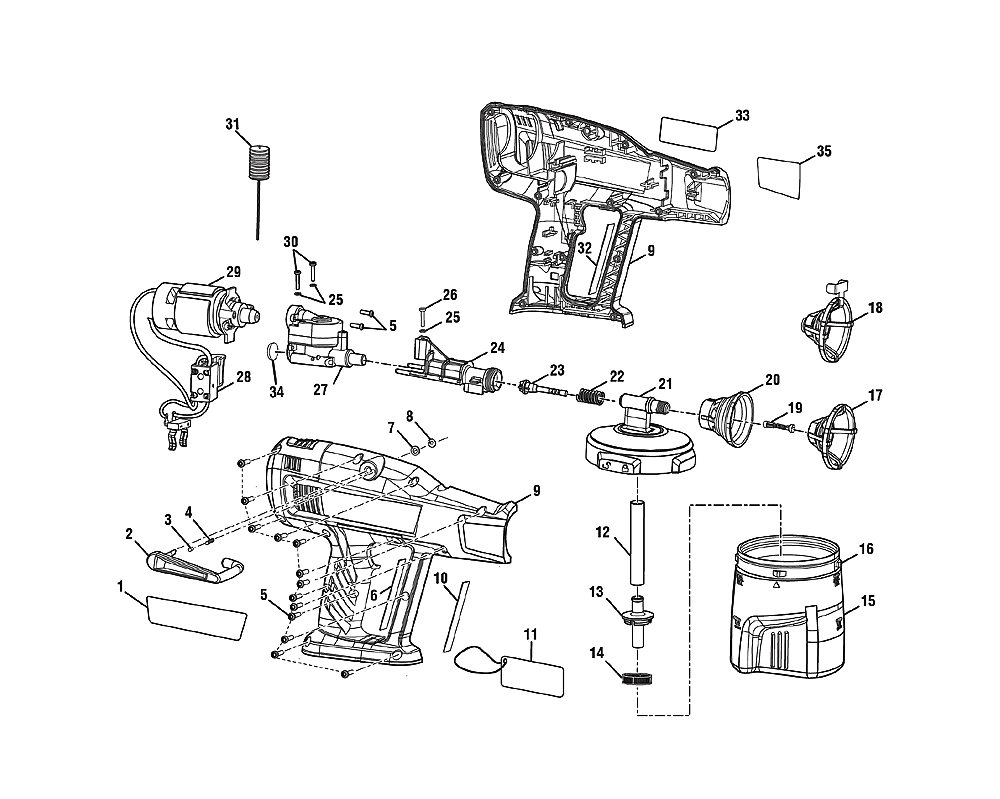 ryobi p631k1 parts list