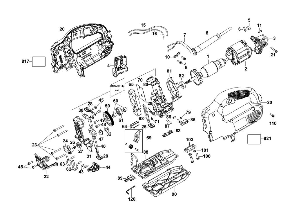 Porter Cable Pce341 Type 1 Parts List