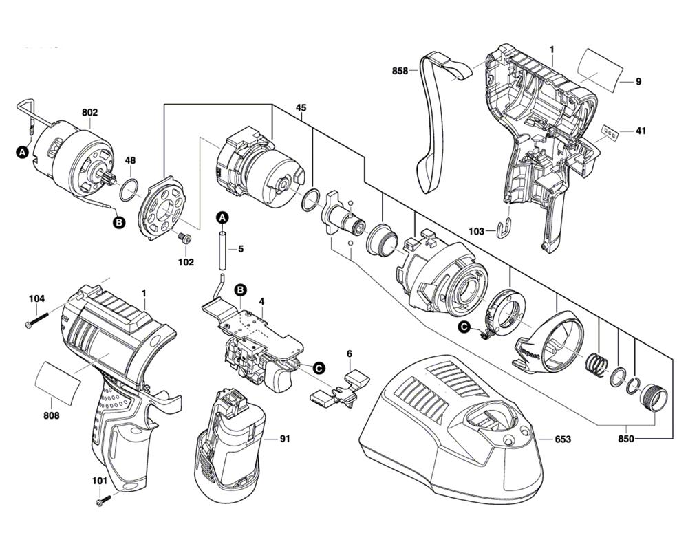 Bosch PS41-(3601JA6910) Parts List   Bosch PS41-(3601JA6910