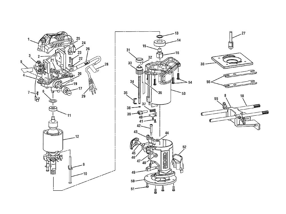 ridgid r2401 parts list