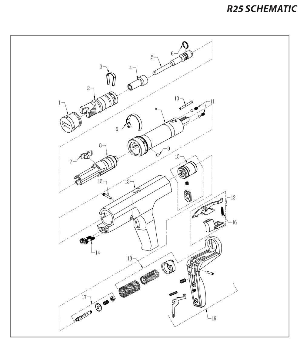 Ramset R25 Parts List