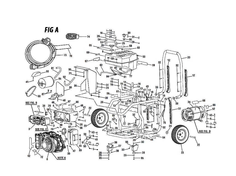 [DIAGRAM_09CH]  Ridgid RD6800 Parts List | Ridgid RD6800 Repair Parts | OEM Parts with  Schematic Diagram | Ridgid Generator Wiring Diagram |  | Repair Tool Parts
