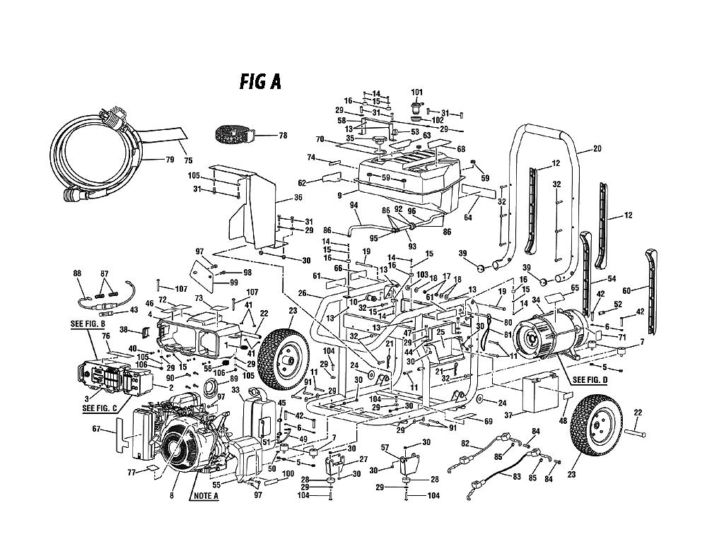 ridgid rd908000 parts list