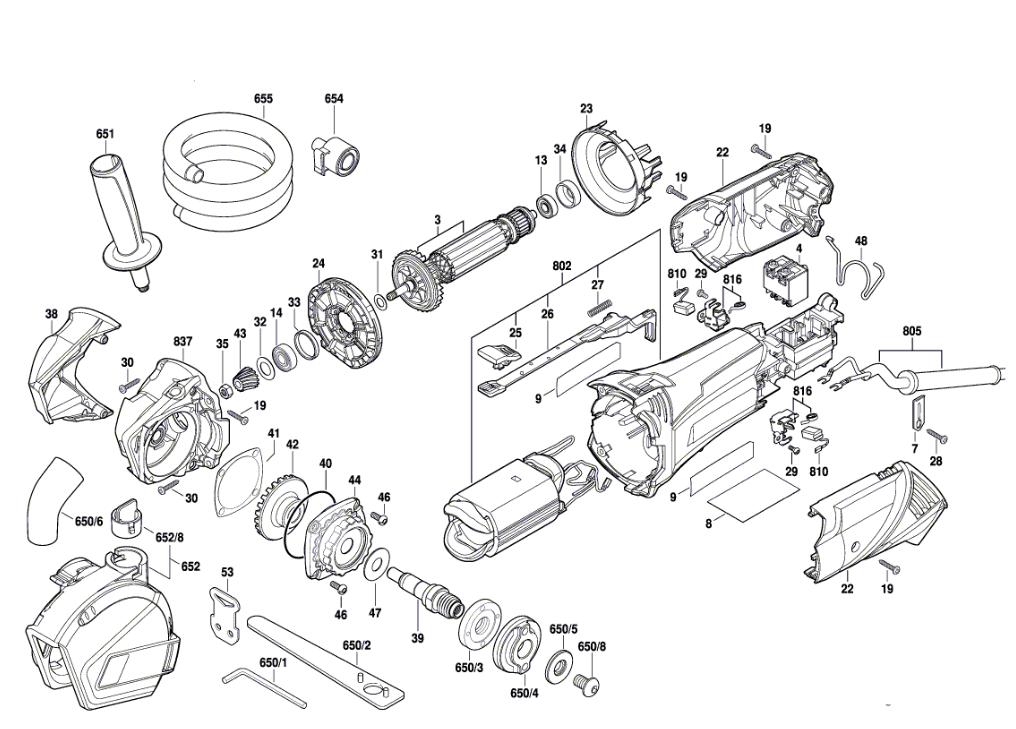 rotozip rfs1000  f012rf0100  parts list