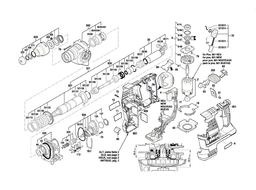 Bosch Rh328vc 36 3611j06010 Parts List